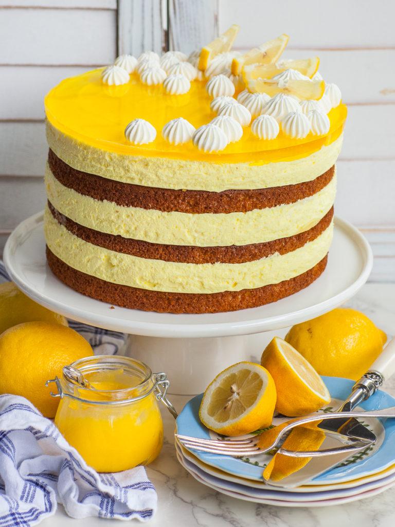 lemon mousse cake with jello