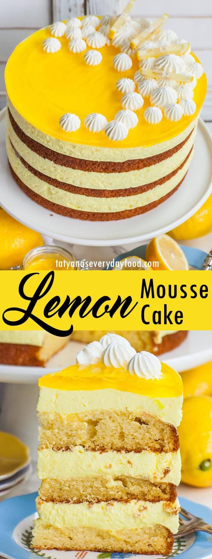 Lemon Mousse Cake video recipe