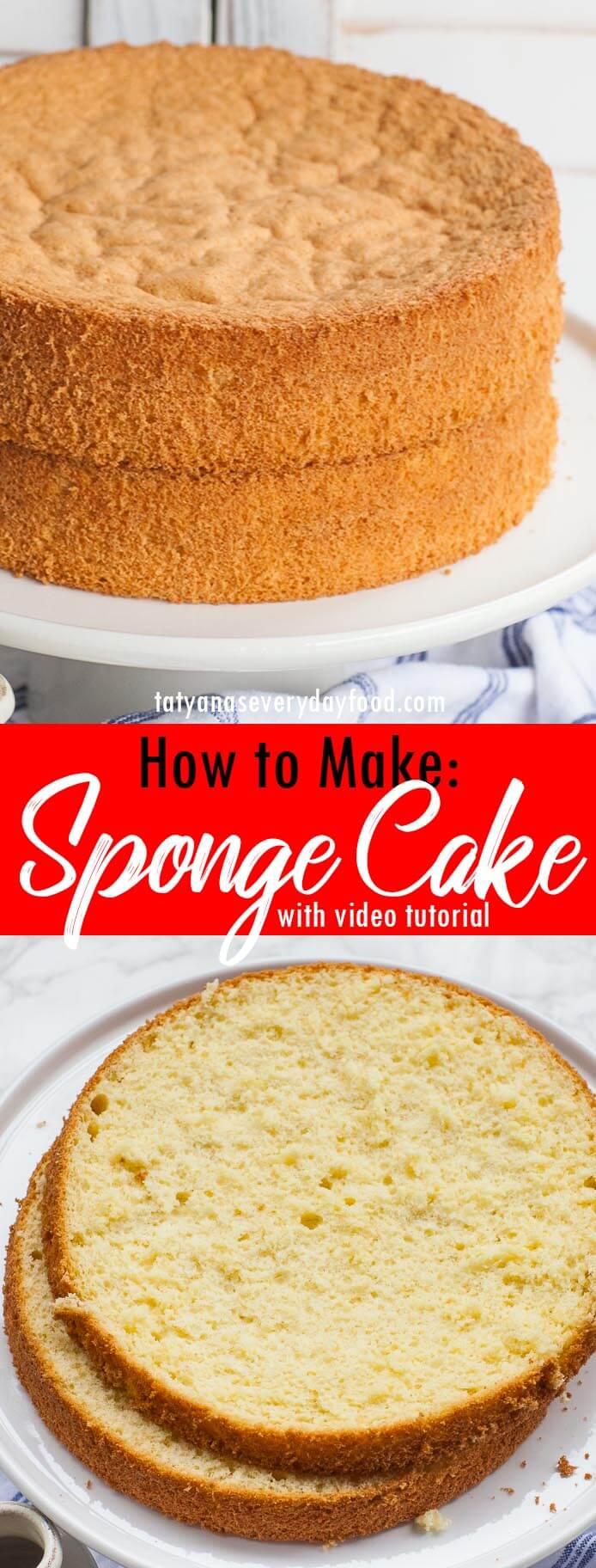 How to Make a Sponge Cake video recipe