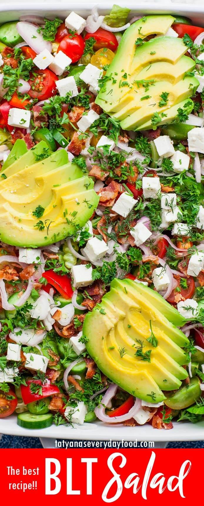 The Best BLT Salad video recipe