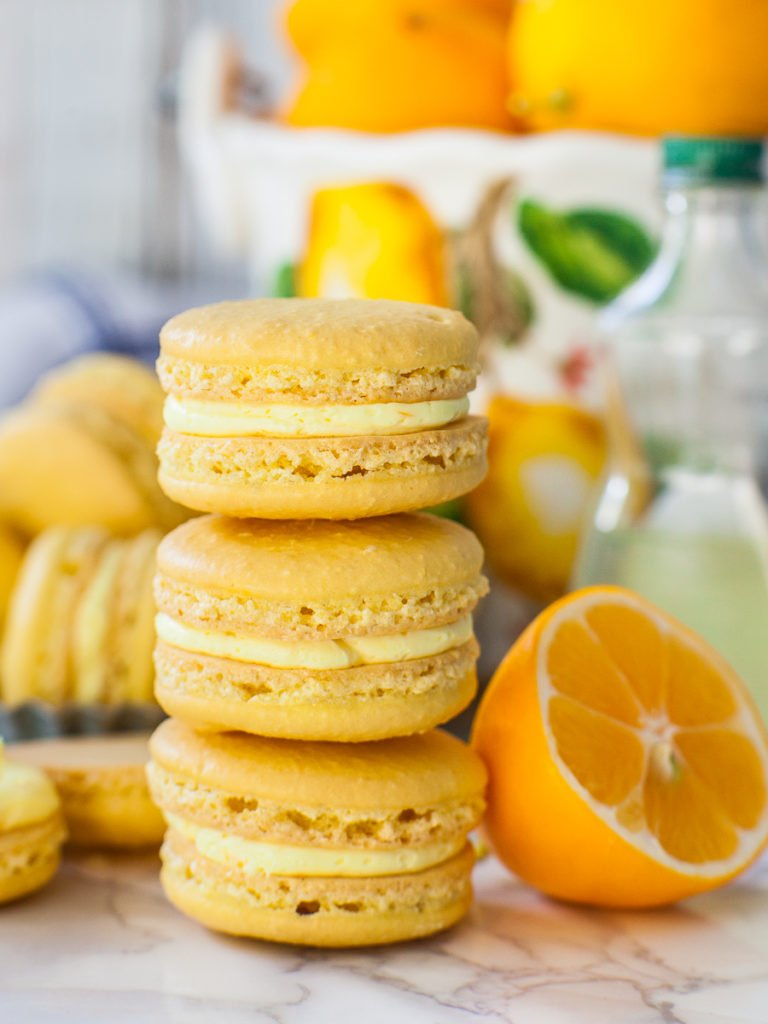the best lemon macaron recipe with lemon curd and lemon cream filling