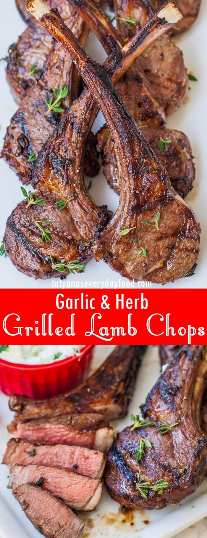 Garlic & Herb Grilled Lamb Chops video recipe