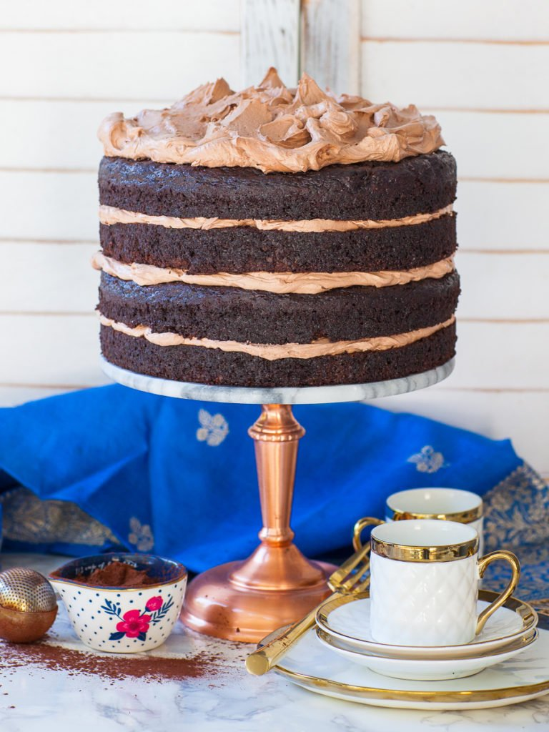 chocolate cake recipe with zucchini and chocolate frosting