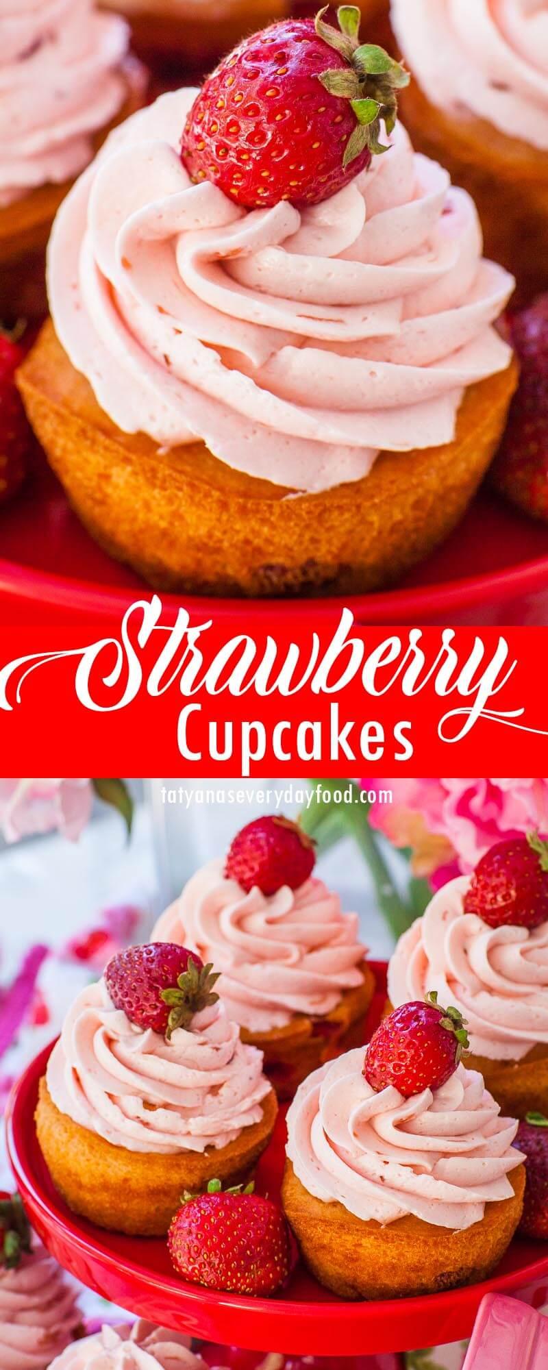 Easy Strawberry Cupcakes video recipe