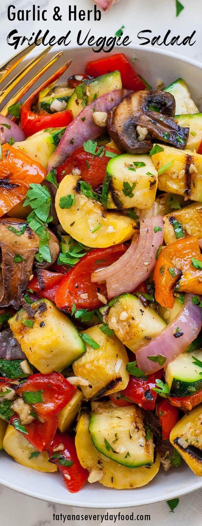 Garlic Grilled Veggie Salad video recipe