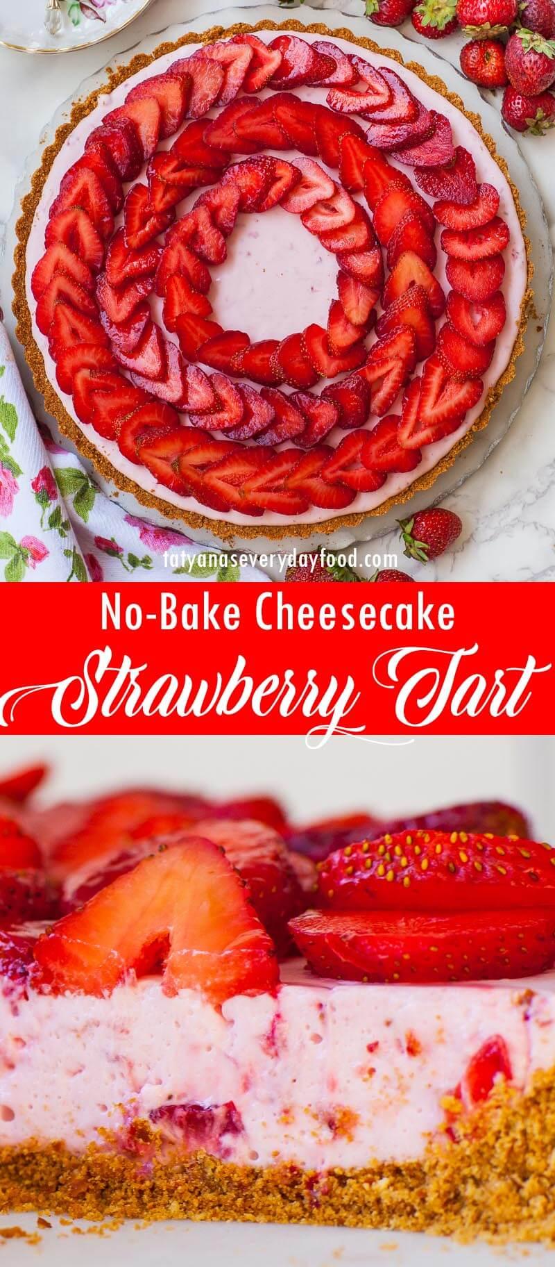No-Bake Cheesecake Strawberry Tart video recipe