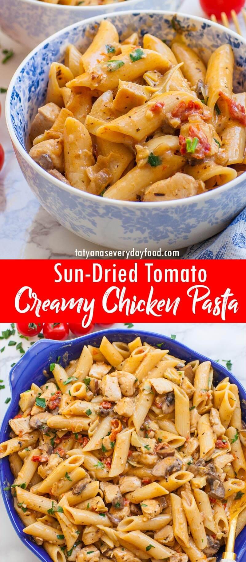 Sun-Dried Tomato Chicken Pasta video recipe