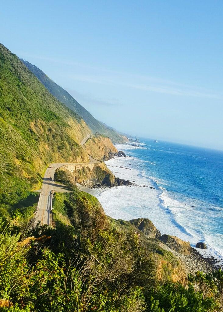 Pacific Ocean along Highway 1 in California