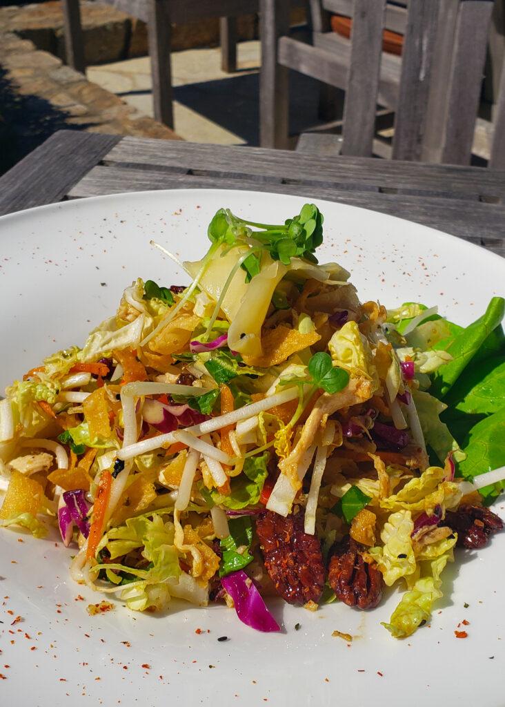 Asian chicken salad at Roy's at Pebble Beach