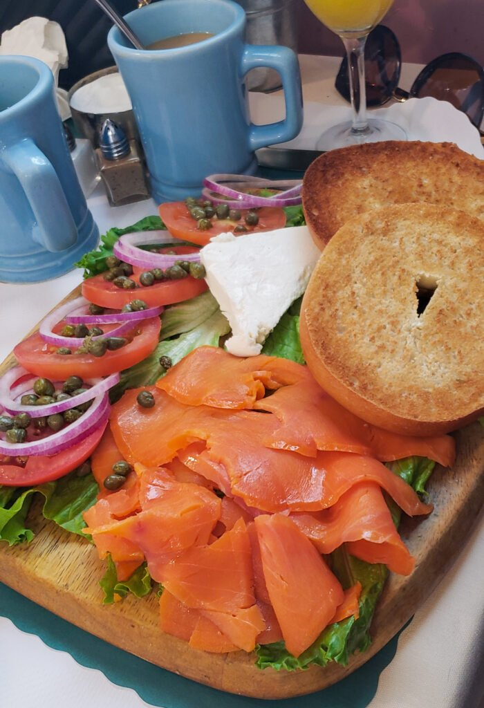 lox bagel spread at The Cottage restaurant