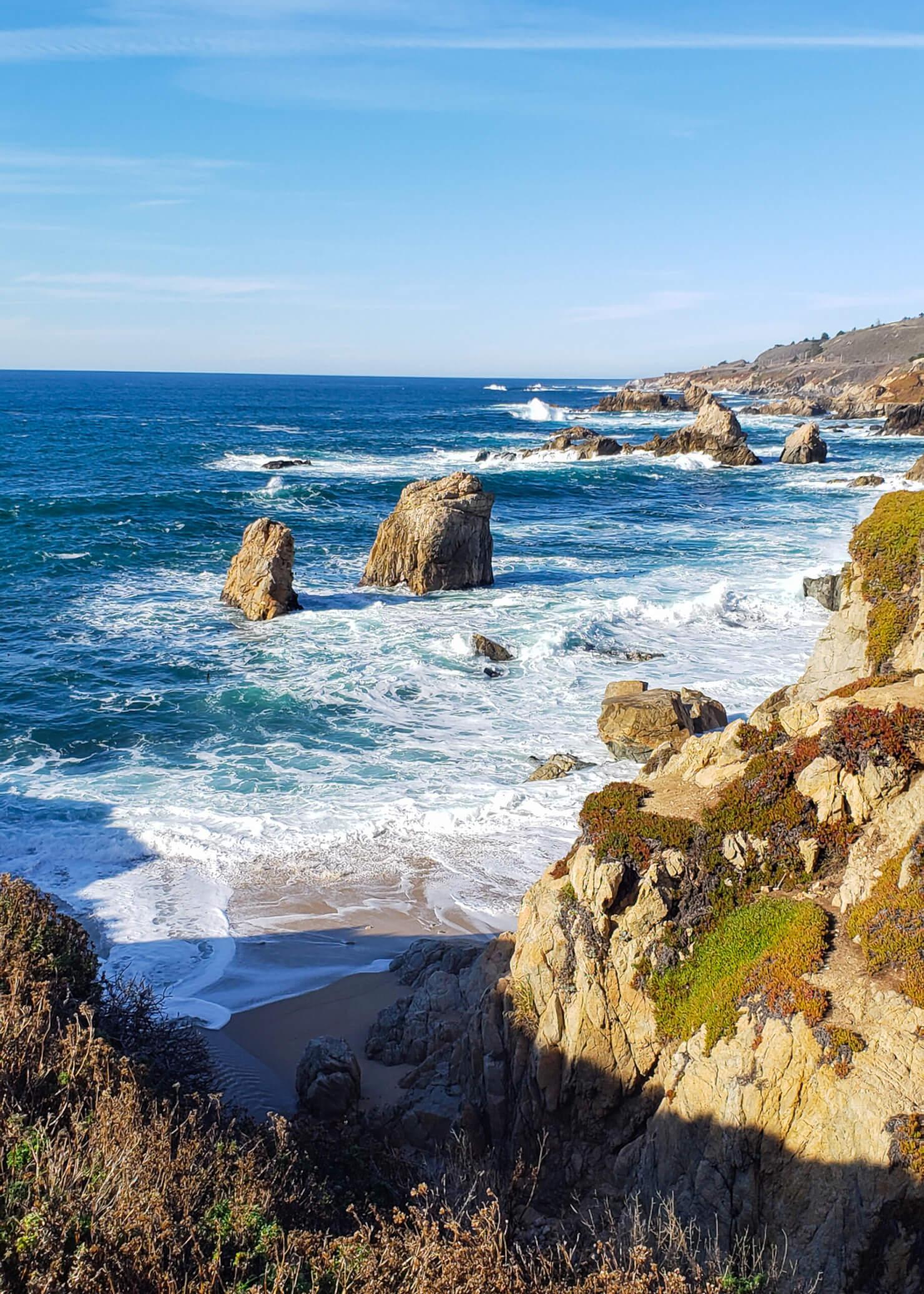 Pacific Ocean along HWY 1 south of Carmel CA
