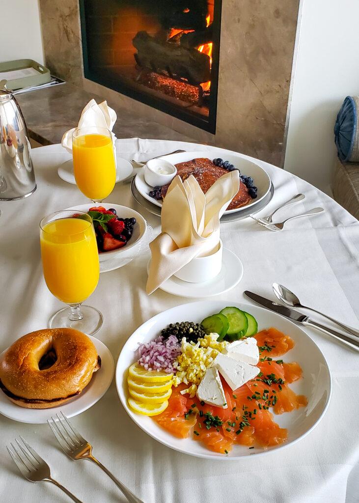 in-room service breakfast the Spanish Bay Inn