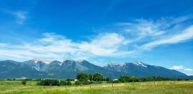 the Rocky Mountain range in Montana
