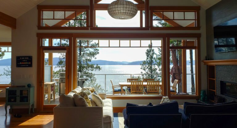 Flathead Lake view from inside home