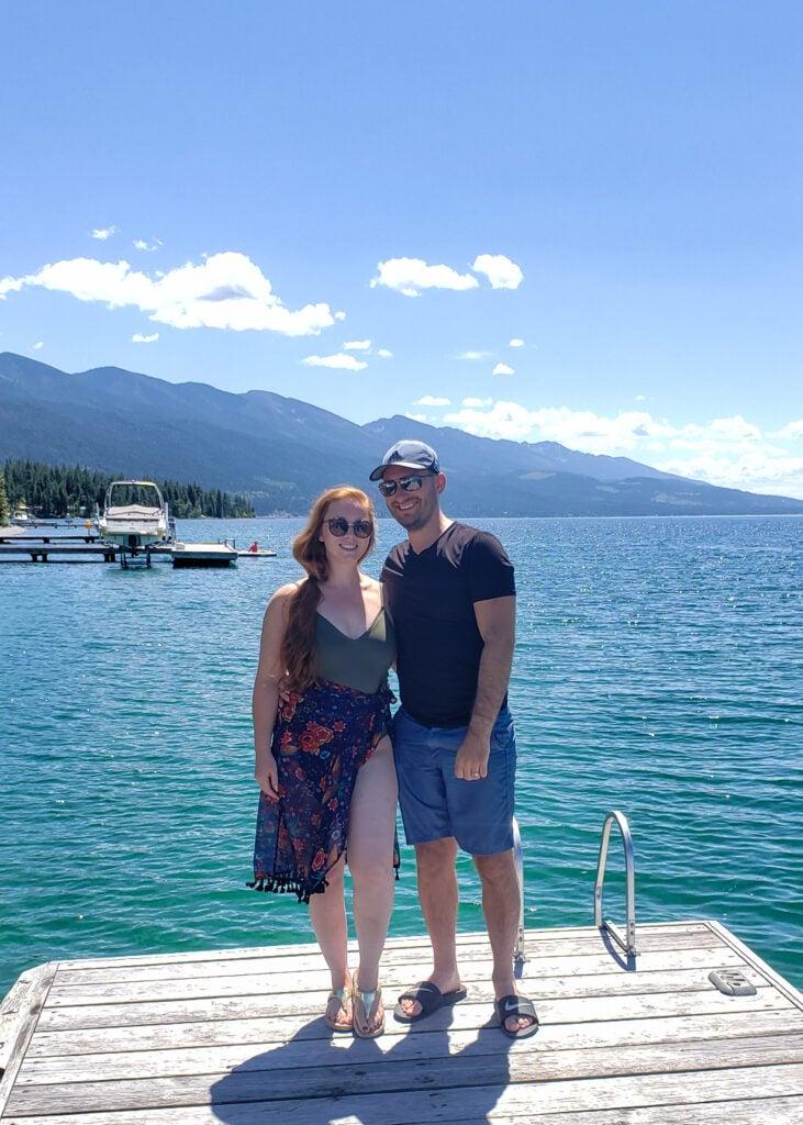 Tatyana and Anatoliy at Flathead lake, MT
