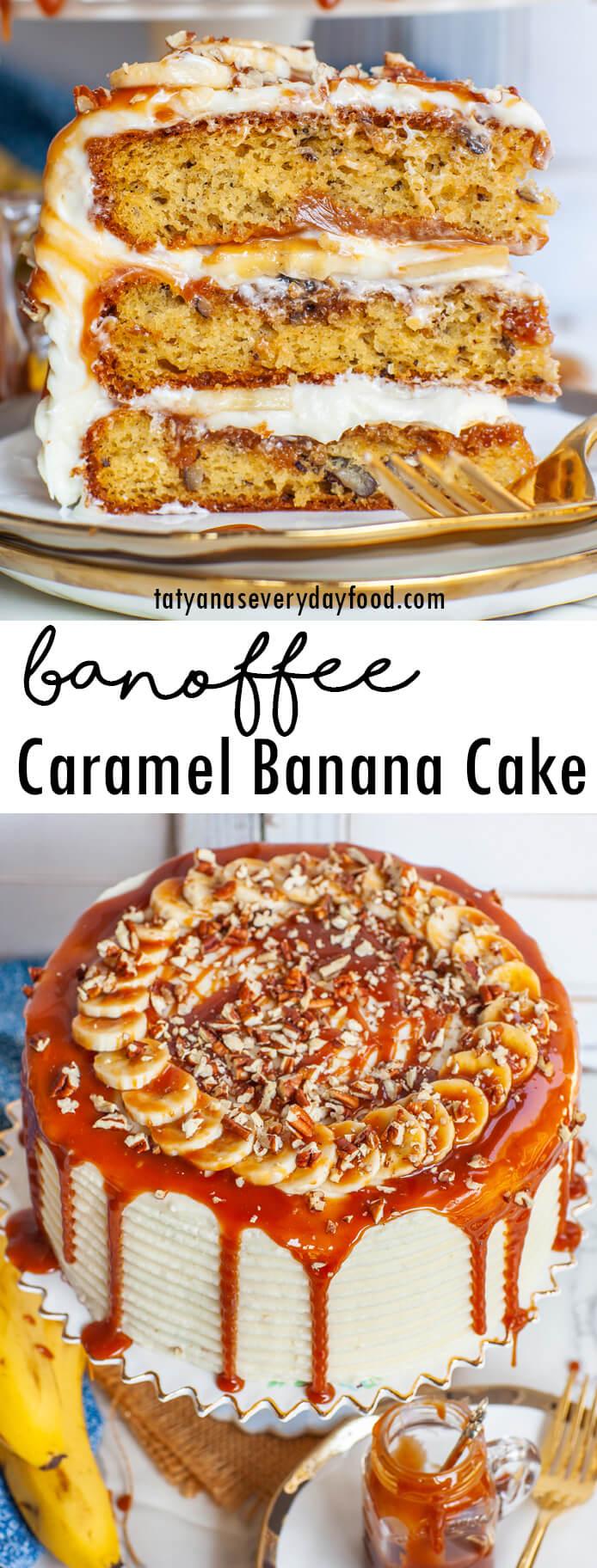 Caramel Banana Banoffee Cake video recipe