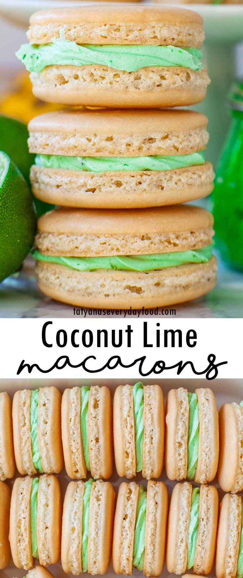 Coconut Lime Macarons video recipe
