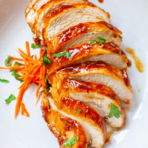 sliced teriyaki chicken breast with homemade teriyaki sauce recipe
