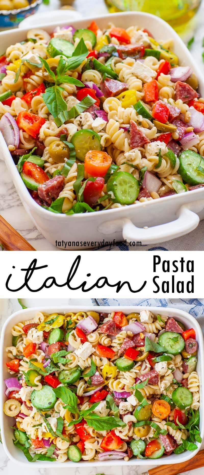 The Best Italian Pasta Salad video recipe