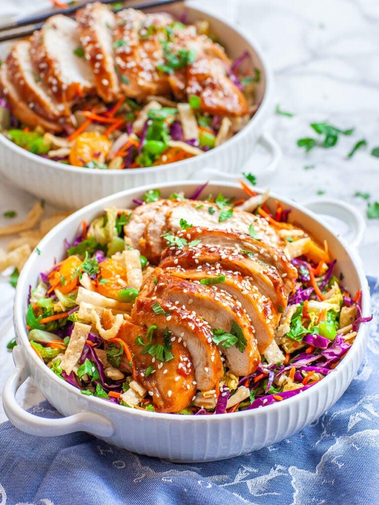 asian salad recipe with teriyaki chicken breast