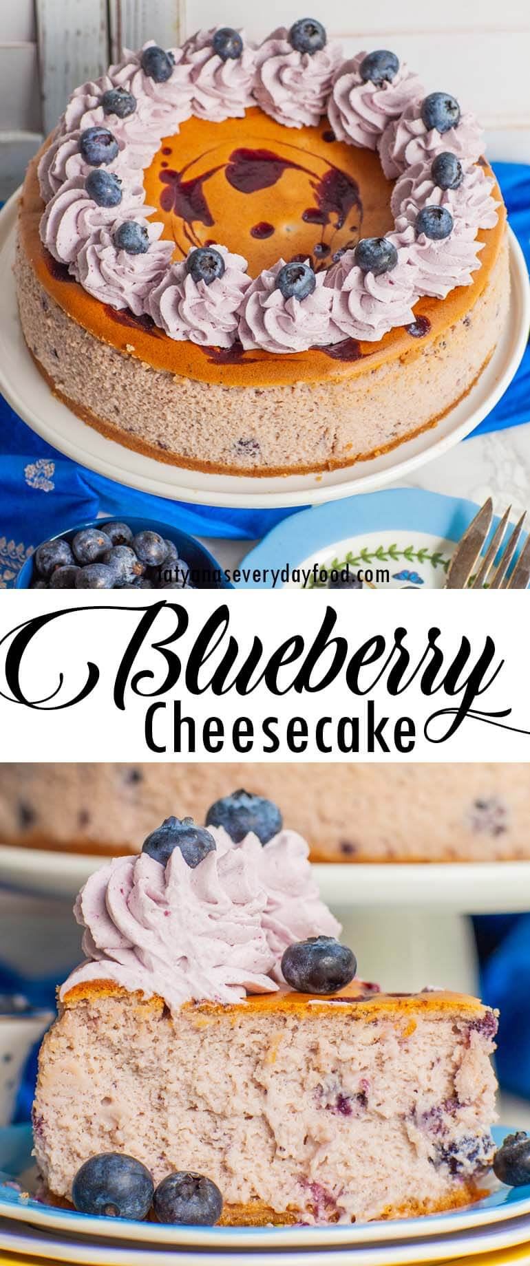 Ricotta Blueberry Cheesecake video recipe