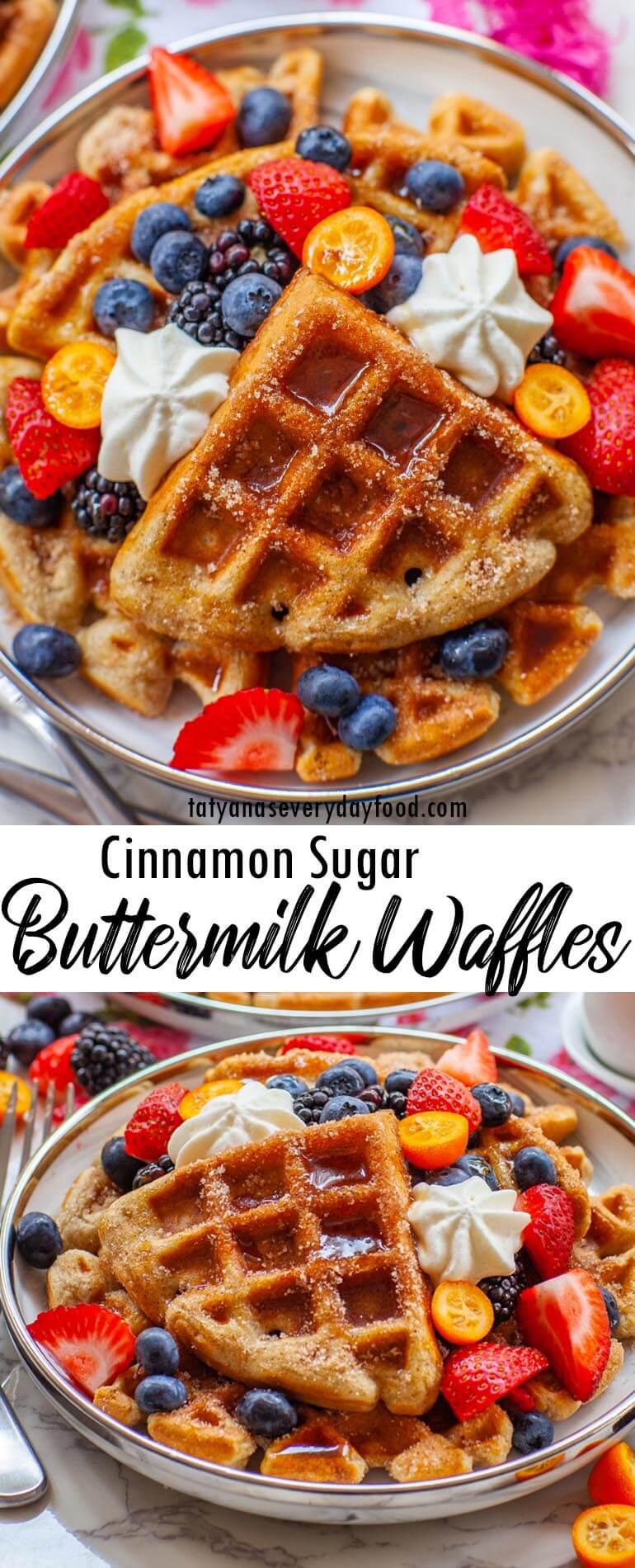 Cinnamon Sugar Buttermilk Waffles video recipe