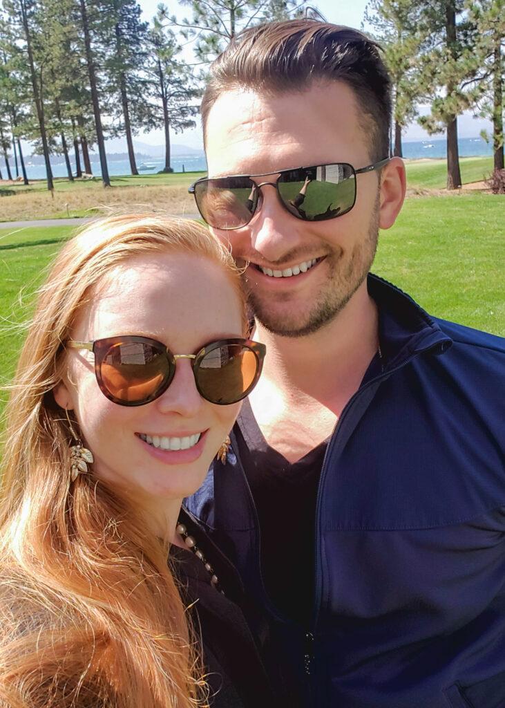 Tatyana and Anatoliy Nesteruk at Lake Tahoe in Edgewood Resort