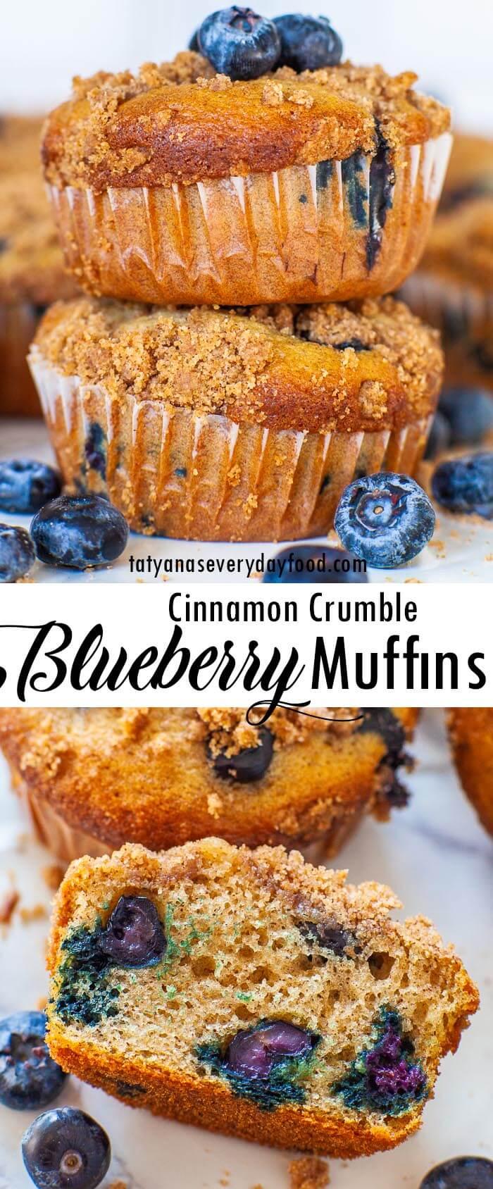 Cinnamon Crumble Blueberry Muffins video recipe