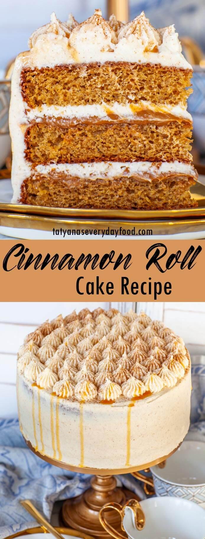 Cinnamon Roll Cake video recipe