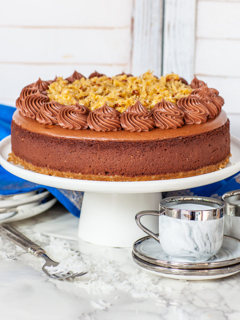 German Chocolate Cheesecake recipe with chocolate buttercream