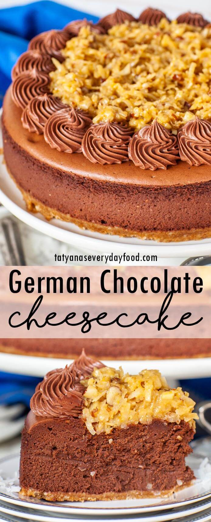 German Chocolate Cheesecake video recipe