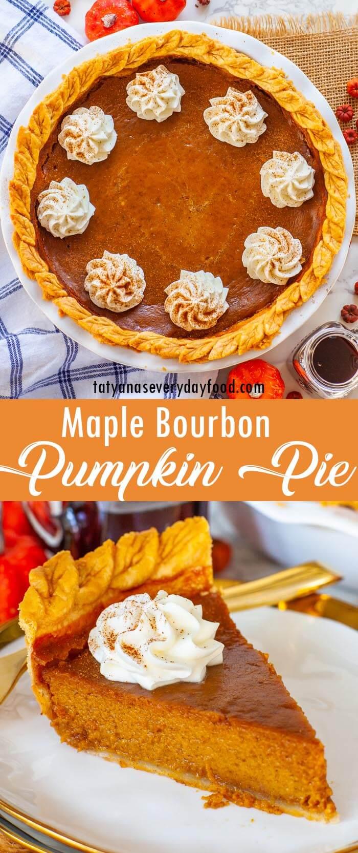 Bourbon Maple Pumpkin Pie video recipe