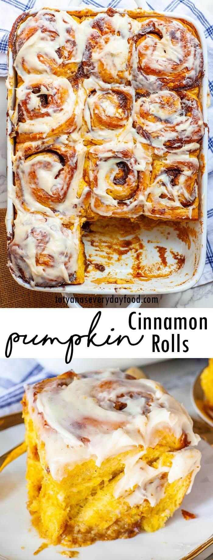 Pumpkin Cinnamon Rolls video recipe