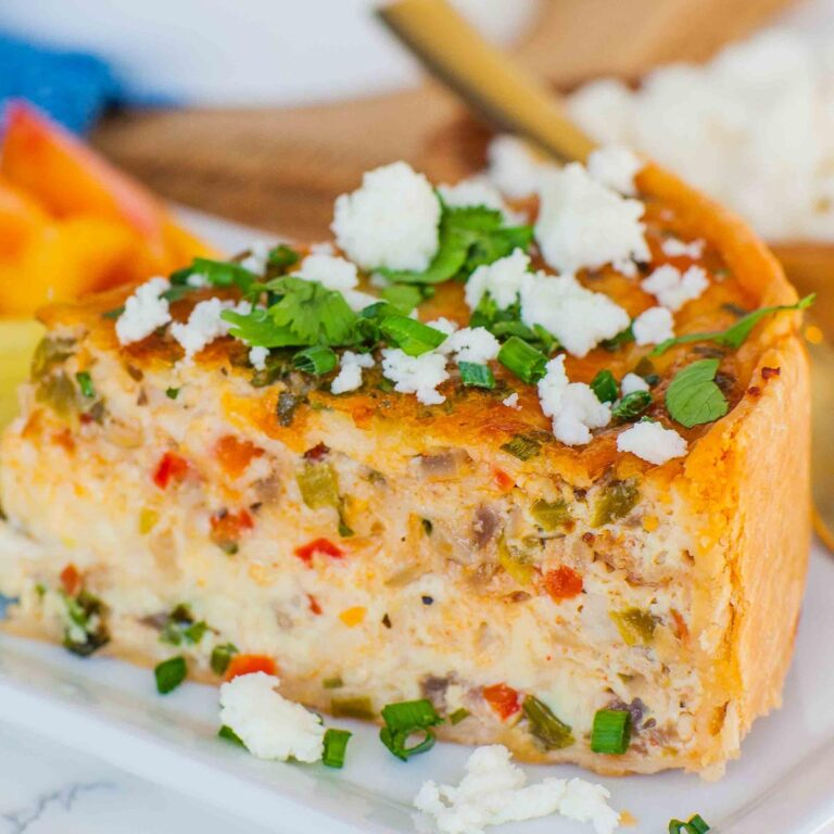 smoky bacon and cheese quiche
