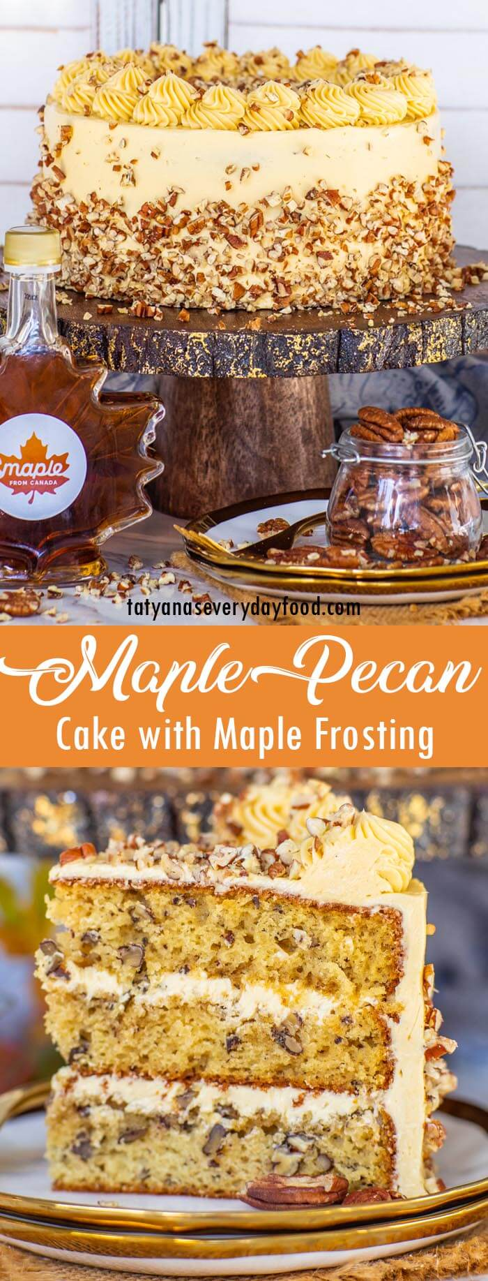 Maple Pecan Cake with Maple Buttercream video recipe