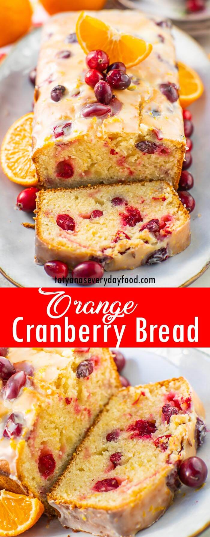 Orange Cranberry Loaf Recipe with video