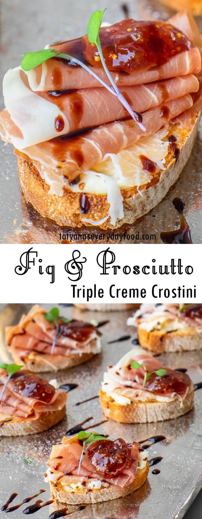 Fig & Prosciutto Crostini recipe