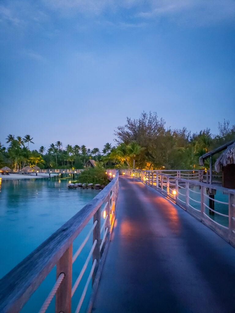 boardwalk in Bora Bora
