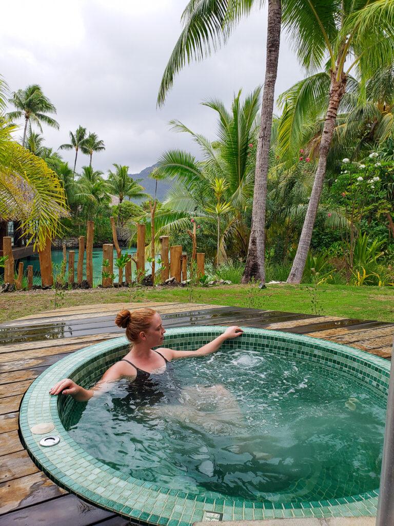 spa hot tub at Thalasso Spa Bora Bora