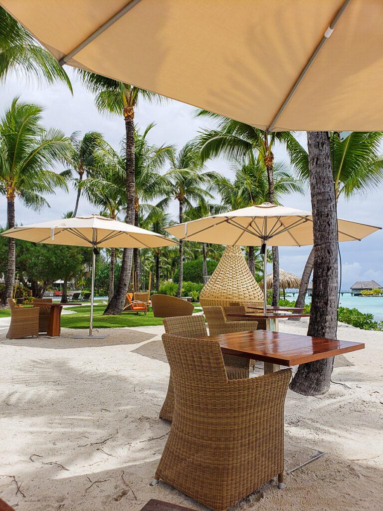 resort views at Sands restaurant in Bora Bora