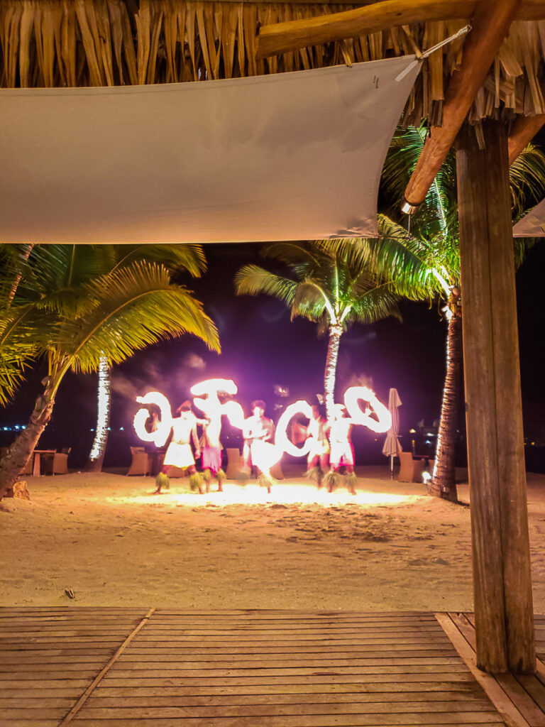 polynesian evening fire show