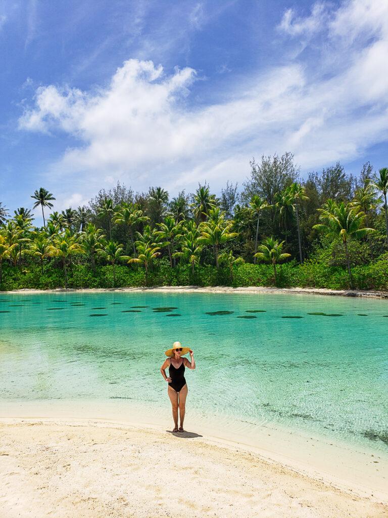 coral reef lagoon in Bora Bora