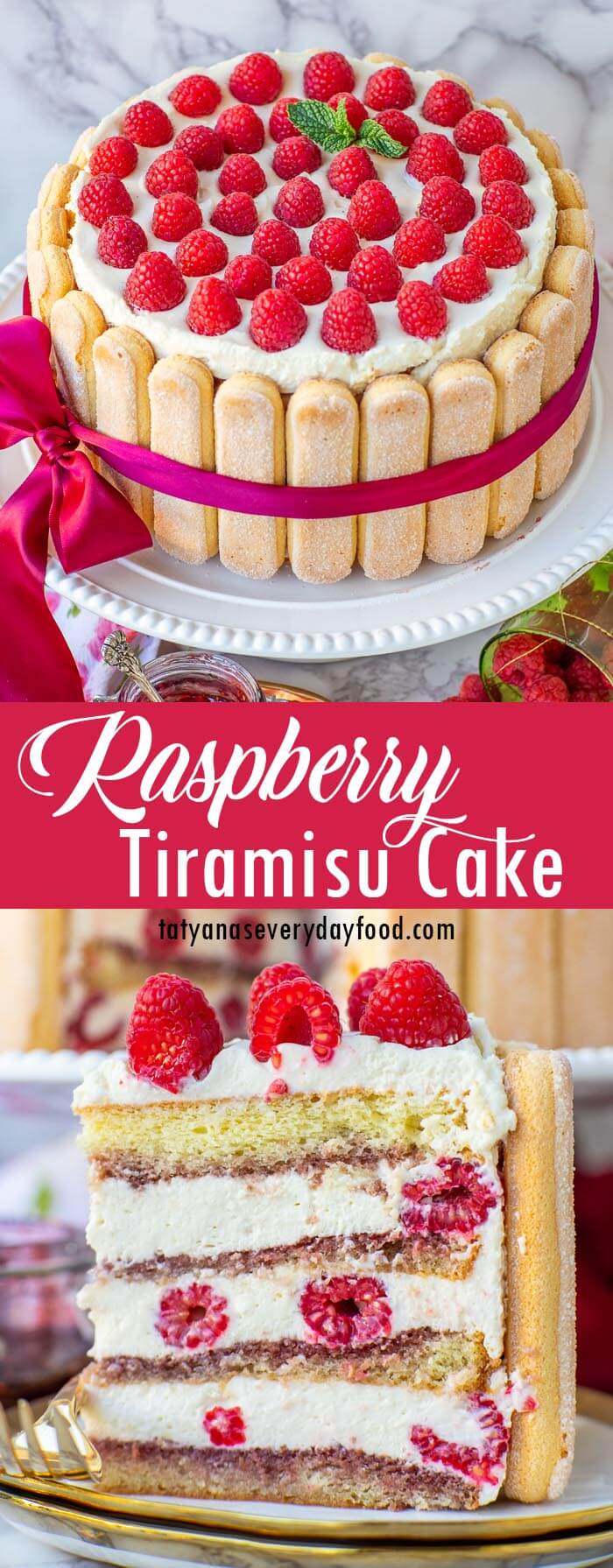 Raspberry Tiramisu Cake video recipe