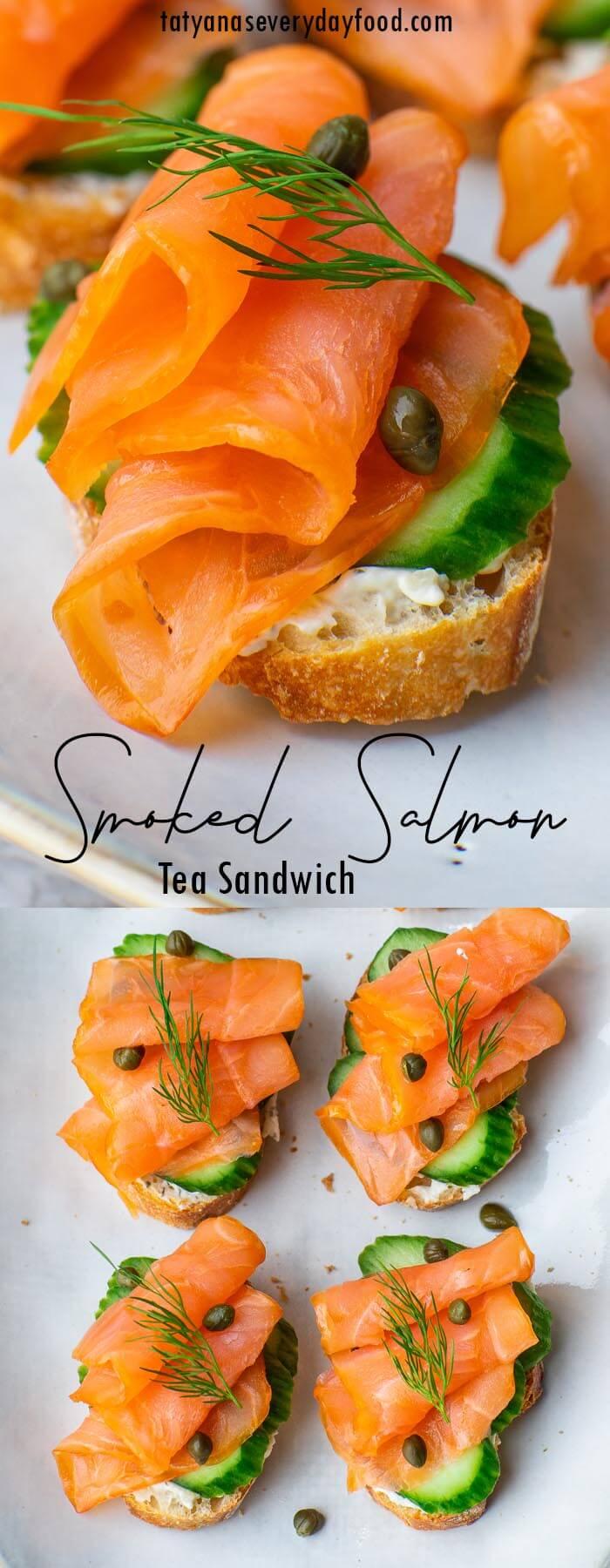 Smoked Salmon Tea Sandwich recipe