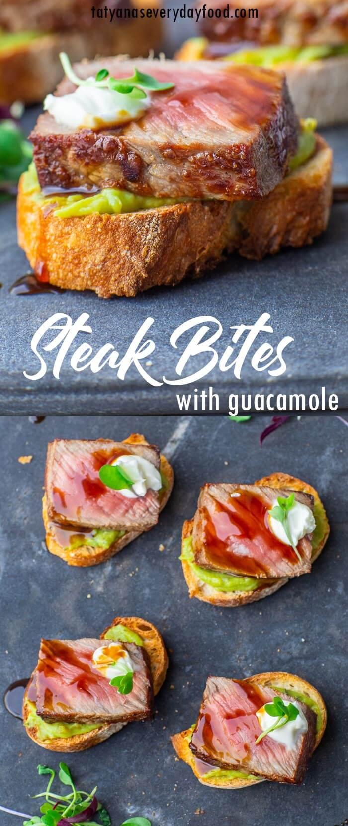 Steak Bites with Guacamole Recipe