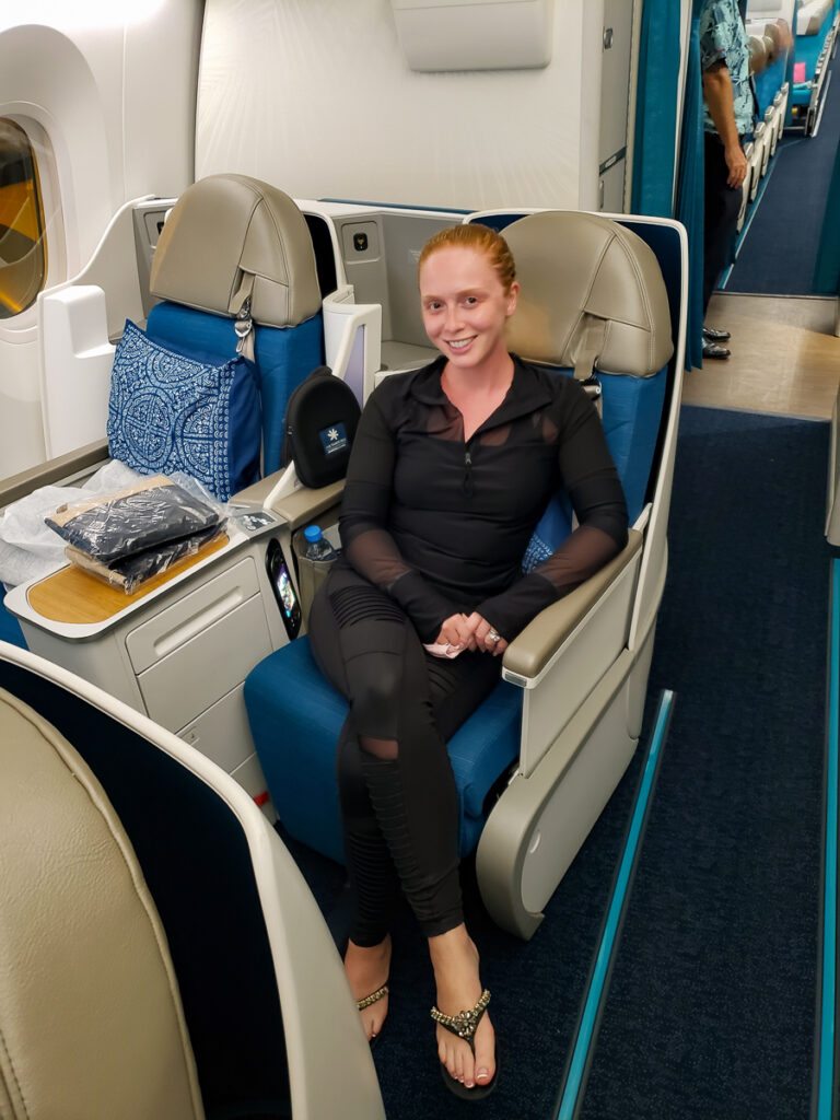 business class seats on Air Tahiti Nui flying to Tahiti