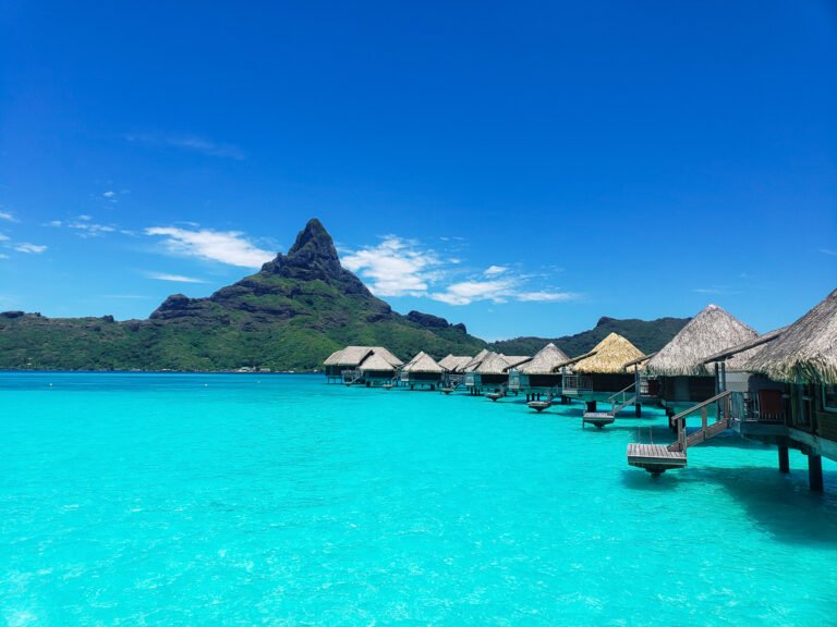overwater bungalows at Intercontinental Thalasso resort