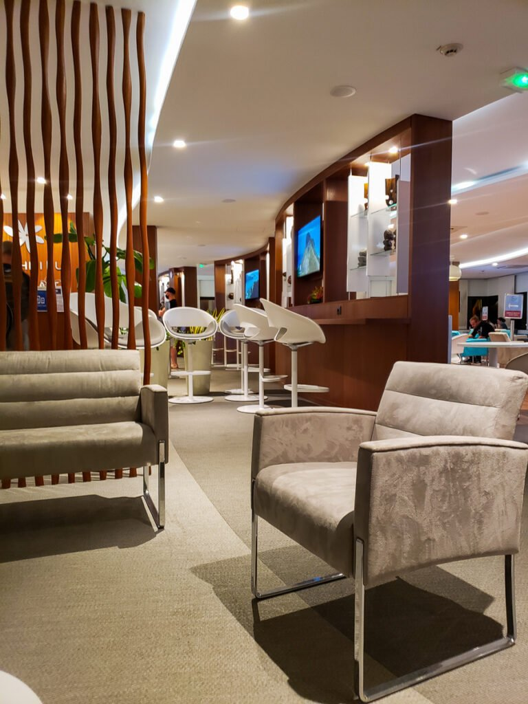 Air Tahiti Nui business lounge in Tahiti