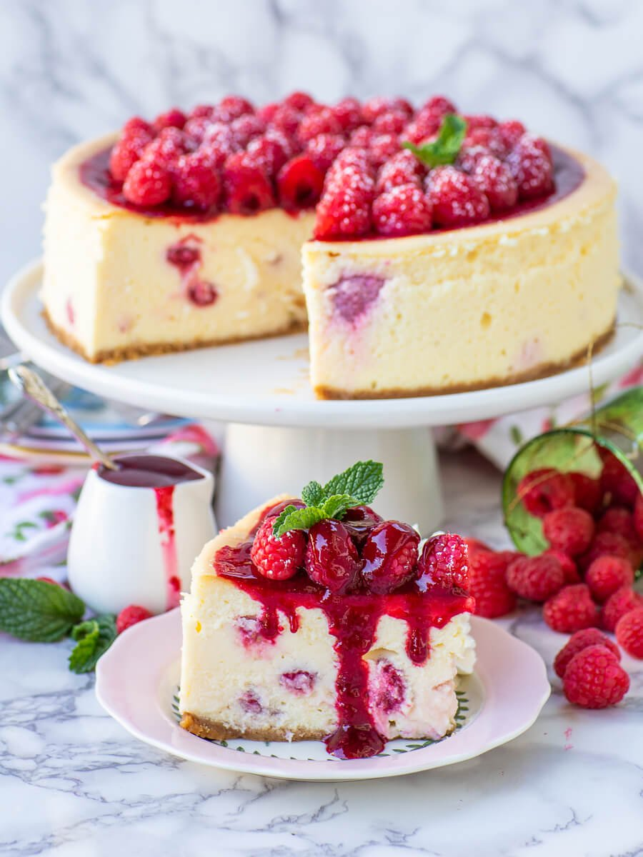 White Chocolate Raspberry Cheesecake Recipe Video Tatyanas Everyday Food