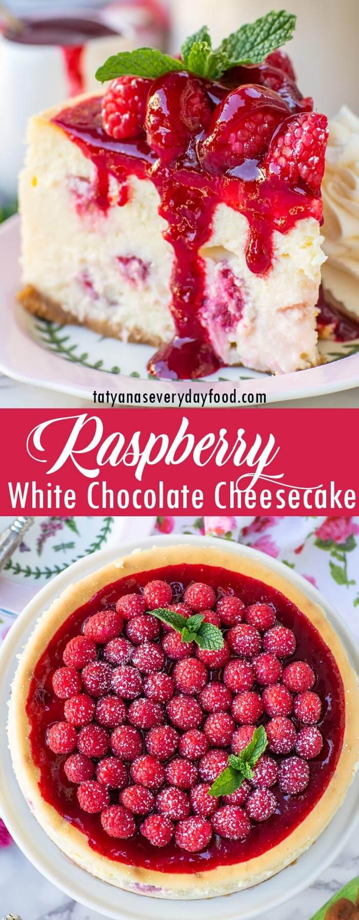 White Chocolate Raspberry Cheesecake video recipe